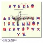 دانلود فونت مثلثی استریو با طراحی خاص Stereo Typeface