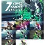 ۷ اکشن فتوشاپ افکت دود فوق العاده Super Smoke Effects