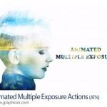 اکشن فتوشاپ ترکیب ویدئو و عکس Animated Multiple Exposure Actions
