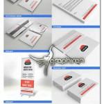 مجموعه کامل ست اداری شرکت هاستینگ PSD لایه باز – شماره ۱۲۳
