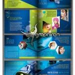 دانلود طرح لایه باز بروشور و کاتالوگ تجاری ۱۶ صفحه برای ایندیزاین