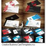 مجموعه ۱۰ طرح آماده کارت ویزیت مدرن PSD لایه باز – شماره ۳۷۲