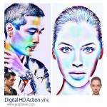 اکشن فتوشاپ افکت رنگ های اچ دی دیجیتال Digital HD Action