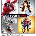 پک ۴ اکشن فتوشاپ افکت های ویژه Four in One Actions Bundle