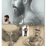 اکشن فتوشاپ افکت طراحی با دست Hand Draw Photoshop Action