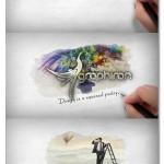 پروژه افتر افکت نوشتن در کتاب با خودکار Hand Writing Book