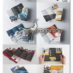 مجموعه ۱۰ بروشور لایه باز ۳ لت Tri Fold Brochure Bundle