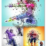 اکشن فتوشاپ ترکیب تایپوگرافی و عکس TypoMix Photoshop Action