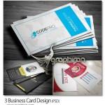 دانلود پک ۳ طرح آماده کارت ویزیت جدید PSD لایه باز – شماره ۳۷۳