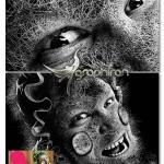 اکشن فتوشاپ تبدیل عکس به نقاشی انتزاعی Abstract Drawing Action