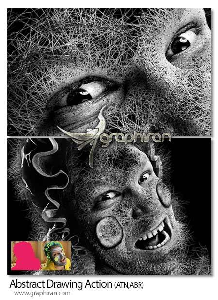 اکشن فتوشاپ تبدیل عکس به نقاشی انتزاعی