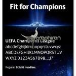دانلود فونت جام باشگاه های اروپا Champions League