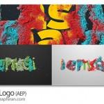 پروژه افتر افکت تشکیل لوگو از رنگ های مخلوط Coral Logo