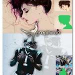 اکشن فتوشاپ بوم نقاشی دیجیتال Digital Canvas Photoshop Actions