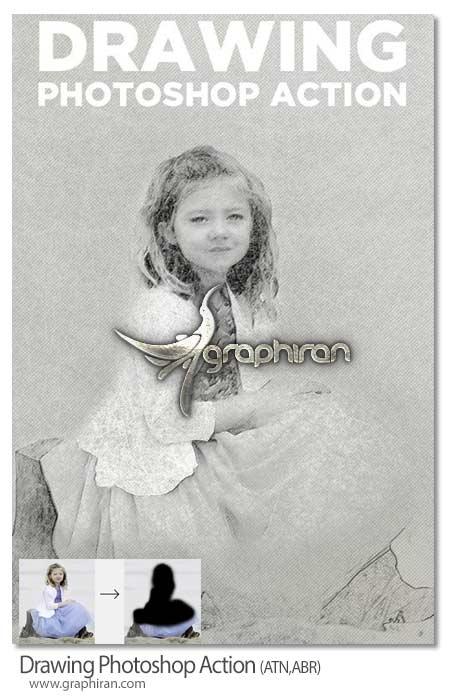اکشن فتوشاپ ایجاد افکت نقاشی زیبا
