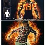 اکشن فتوشاپ ایجاد افکت آتش گرفتن Fire Effect Photoshop Action
