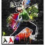 اکشن فتوشاپ افکت هنر گرافیتی روی دیوار Graffiti Art Action