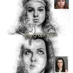 اکشن فتوشاپ نقاشی با مداد Hand Drawing Action