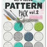 پترن های طراحی شده با دست HandSketched Seampless Patterns II