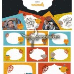 دانلود ۸ فریم عکس کودکانه با تصاویر حیوانات Kids Photo Frames