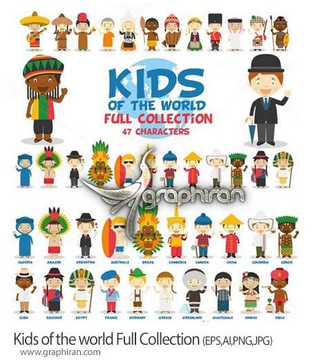 Kids of the world Collection تصاویر کودکان از سراسر دنیا Kids of the world Full Collection