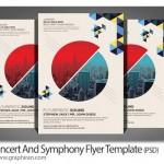 دانلود طرح آماده پوستر کنسرت و ارکستر PSD لایه باز