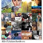 دانلود مجموعه بیش از ۸۰۰ اکشن متنوع مختلف PS Actions Bundle