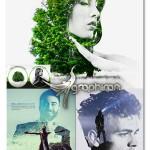 اکشن فتوشاپ ترکیب جذاب دو عکس با هم Bi-Exposure Photoshop Action