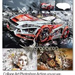 اکشن فتوشاپ ساخت اثر هنری کلاژ Collage Art Photoshop Action