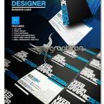 دانلود کارت ویزیت با طرح گرافیکی حرفه ای لایه باز – شماره ۳۸۰
