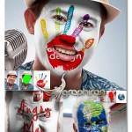 اکشن فتوشاپ نقاشی ساده روی چهره Easy Painting Photoshop Action