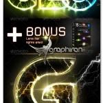 اکشن افکت درخشش الکتریکی Electric Glowing Effect Photoshop Action