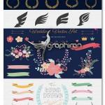 کیت گرافیکی المان های ساخت لوگو Logo Design Element Kit