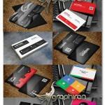 دانلود پک ۱۰ کارت ویزیت مدرن و زیبا PSD لایه باز – شماره ۳۸۲