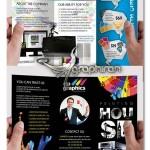 دانلود بروشور شرکت طراحی تبلیغات و چاپ فرمت PSD لایه باز