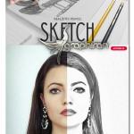 اکشن فتوشاپ افکت نقاشی با مداد طبیعی Realistic Pencil Sketch Action