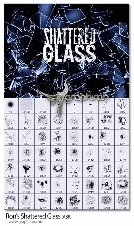 براش فتوشاپ شیشه شکسته شده