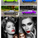 اکشن تغییر رنگ بخشی از عکس Selective Color Area Photoshop Action