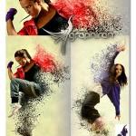 اکشن فتوشاپ افکت انتشار رنگ روی عکس Splatter 2 Photoshop Action