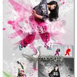 اکشن فتوشاپ افکت ریختن مایع در عکس Splatter Photoshop Action