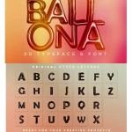 فونت و حروف ۳ بعدی بادکنکی Ballona 3D Lettering & Font