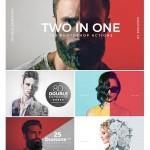 اکشن دابل اکسپوژر و دو رنگی Double Exposure + Duotone Actions