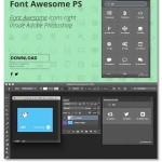 Font Awesome 1.1.0 پلاگین فتوشاپ جستجو و استفاده از شیپ های مختلف
