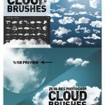دانلود ۲۵ براش ابر فتوشاپ با کیفیت بالا Hi-Res Cloud Brushes