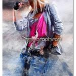 اکشن فتوشاپ افکت نقاشی پر رنگ Sharp Painter Photoshop Action