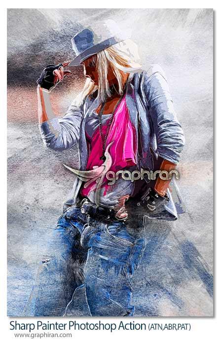 اکشن فتوشاپ افکت نقاشی پر رنگ