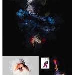 اکشن فتوشاپ پاشیدن رنگ روی تصویر Water Color Splatter