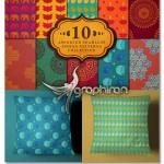 مجموعه ۱۰ پترن و الگوی هندی یکپارچه Seamless Indian Patterns