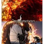 اکشن فتوشاپ سوختن در شعله های سوزان آتش Burning Action