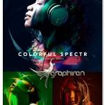 اکشن فتوشاپ افکت های خطی رنگی Colorful Spectr Photoshop Action